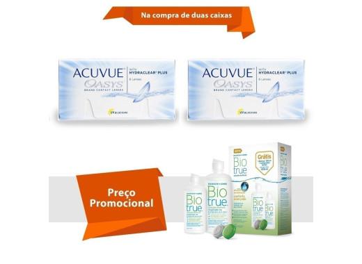 Acuvue Oasys com Hydraclear Plus com BioTrue