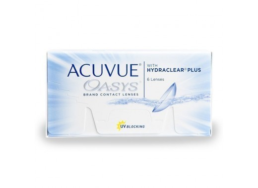 Acuvue Oasys com Hydraclear Plus com UltraSept
