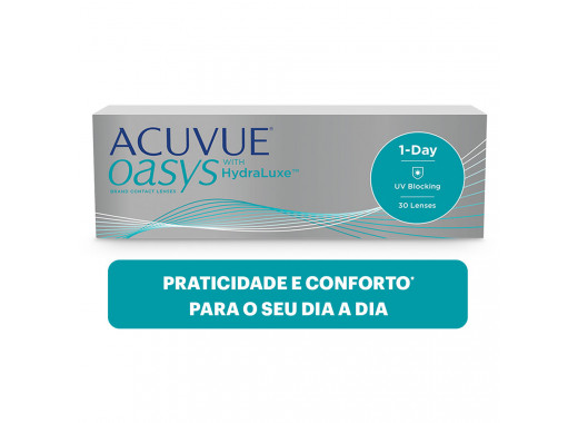 Acuvue Oasys 1 Day com HydraLuxe
