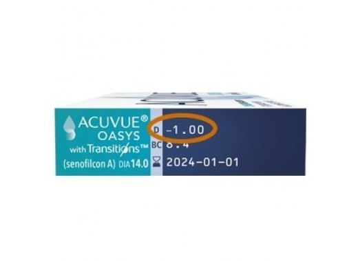 Acuvue Oasys Transitions com Limp Lent