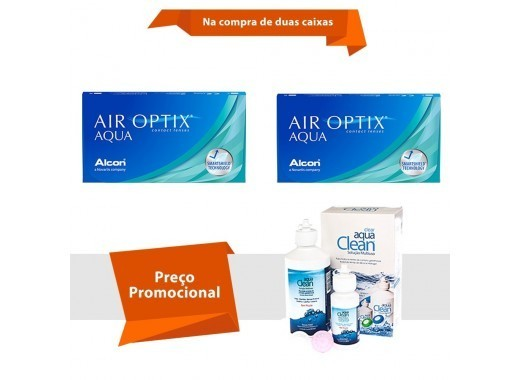 Air Optix Aqua com Aqua Clean