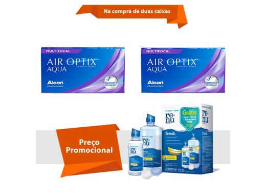Air Optix Aqua Multifocal com Renu Fresh