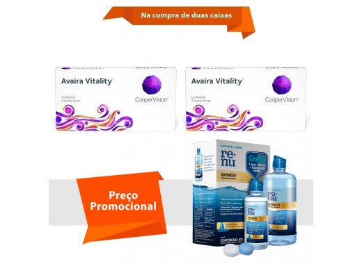 Avaira Vitality com Renu Advanced