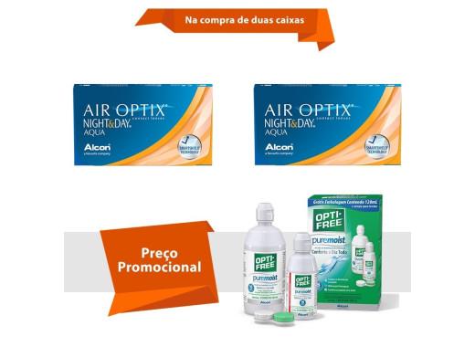 Air Optix Night & Day Aqua com Opti Free
