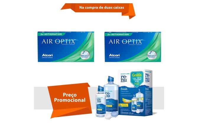 bde26f4ed Air Optix para Astigmatismo com Renu Fresh | Viallure Lentes e Óculos