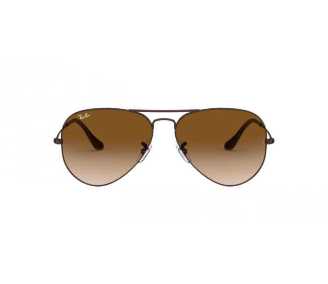 Óculos de Sol Ray-Ban Aviator RB 3025 014/51 Marrom Degradê e Marron 58