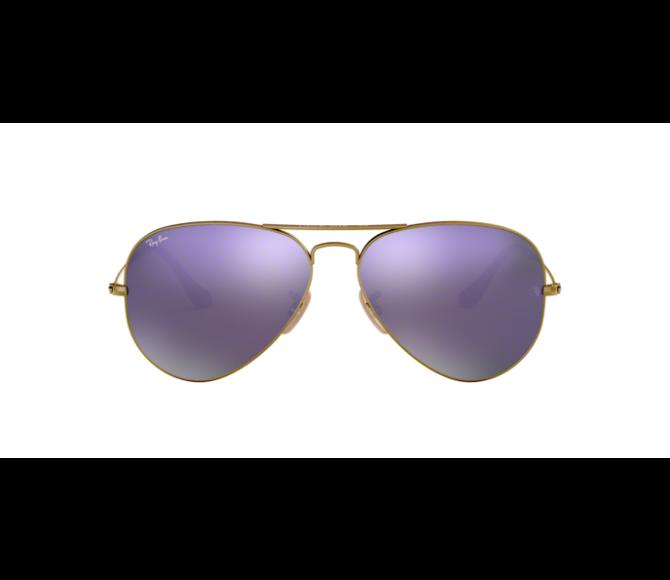Óculos de Sol Ray-Ban Aviator RB 3025 167/4K Espelhada Marrom Lilás e Bronze Escovado 58
