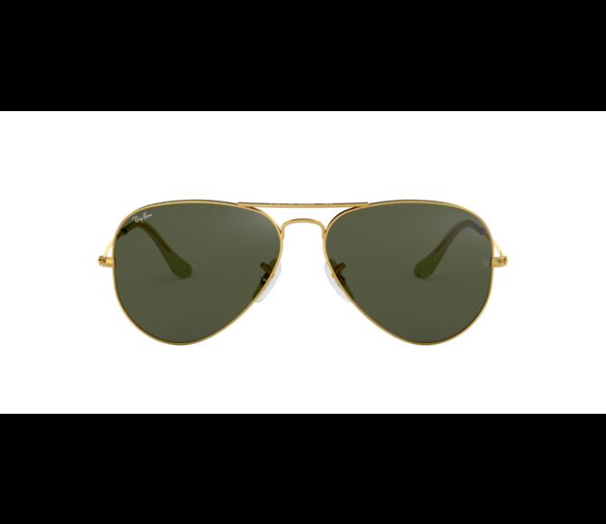Óculos de Sol Ray-Ban Aviator RB 3025 L0205 Verde e Dourado 58
