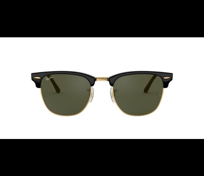 Óculos de Sol Ray-Ban Clubmaster RB 3016 W0365 Verde e Preto/Dourado 49