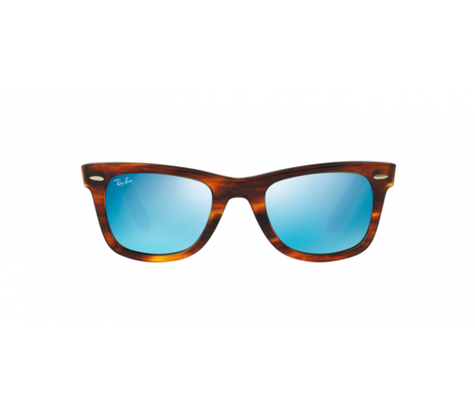 Óculos de Sol Ray-Ban Wayfarer RB 2140 117617 Espelhada Azul e Havana listrado 50