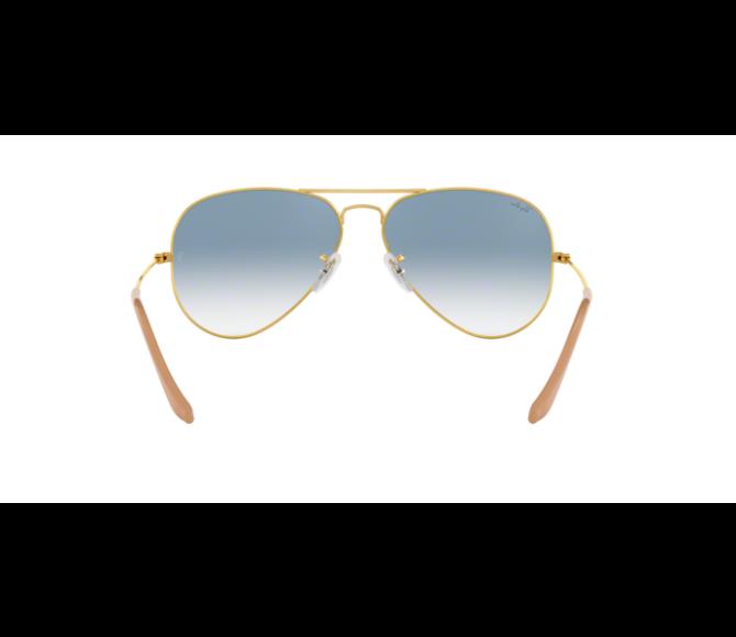 Óculos de Sol Ray-Ban Aviator RB 3025 001/3F Azul Degradê e Dourado 55