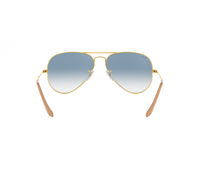 Óculos de Sol Ray-Ban Aviator RB 3025 001/3F Azul Degradê e Dourado 62