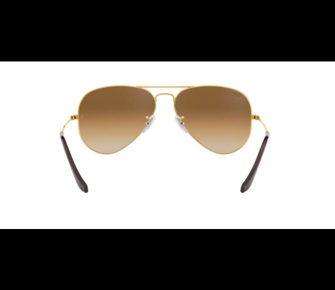 Óculos de Sol Ray-Ban Aviator RB 3025 001/51 Marrom Degradê e Dourado 62