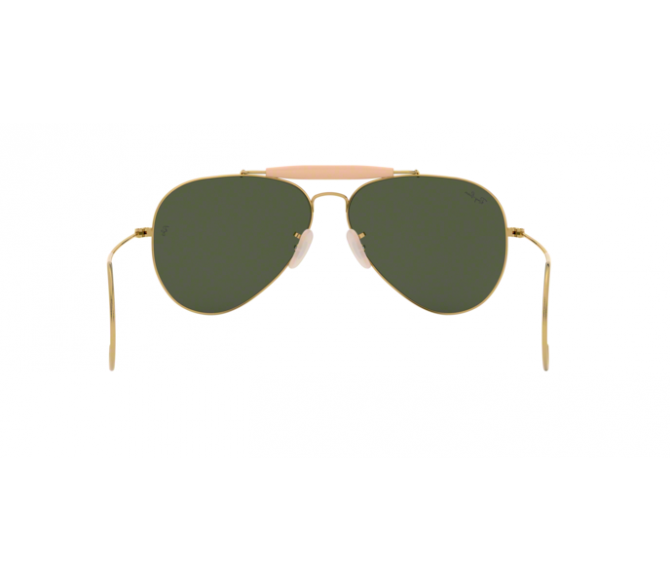 Óculos de Sol Ray-Ban Outdoorman RB 3030 L0216 Verde e Dourado 58