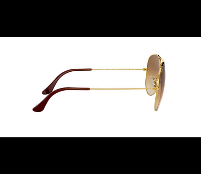 Óculos de Sol Ray-Ban Aviator RB 3025 001/51 Marrom Degradê e Dourado 55
