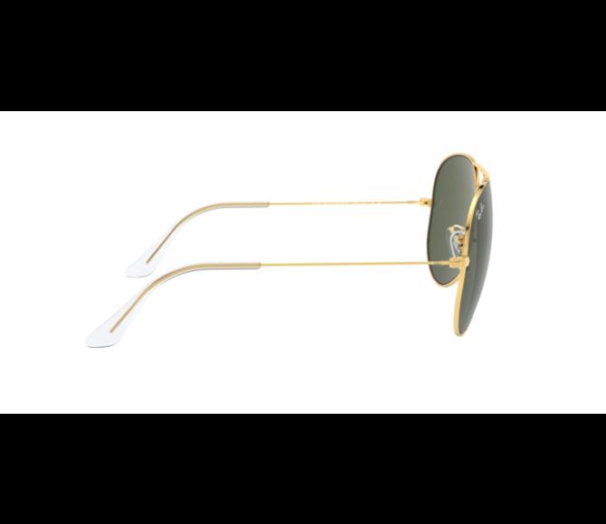 Óculos de Sol Ray-Ban Aviator RB 3026 L2846 lente verde e armação dourada 62