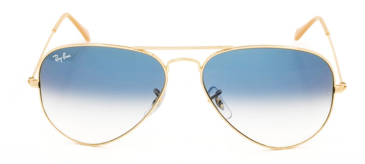 ray ban aviator 62 azul degrade