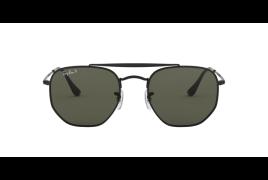 Óculos de Sol Ray-Ban Marshal RB 3648N Cinza Total Polarizado e Preto 52