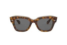 Óculos de Sol Ray-Ban State Street RB 2186 1292B1 Cinza e Havana Escuro 49