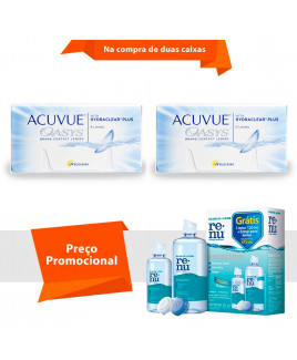 Acuvue Oasys com Hydraclear Plus com Renu Sensitive