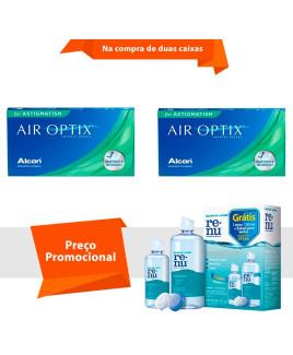 Air Optix para Astigmatismo com Renu Sensitive