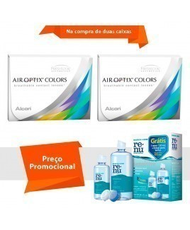 Air Optix Colors sem Grau com Renu Sensitive