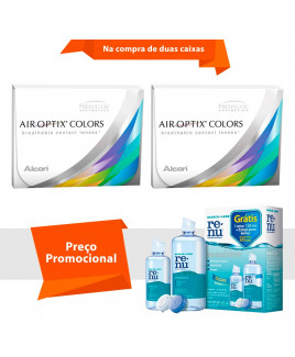 Air Optix Colors com Grau e Renu Sensitive
