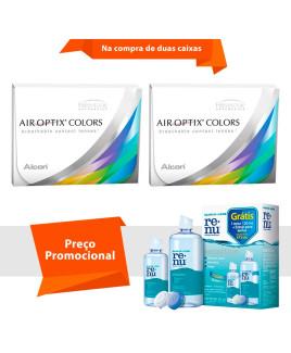Air Optix Colors sem Grau com Renu Sensitive