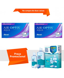 Air Optix Aqua Multifocal com Renu Sensitive