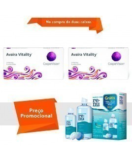 Avaira Vitality com Renu Sensitive