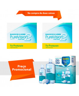 Purevision 2 Multifocal para Presbiopia com Renu Sensitive