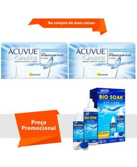 Acuvue Oasys para Astigmatismo com Hydraclear Plus com Bio Soak