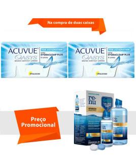 Acuvue Oasys para Astigmatismo com Hydraclear Plus com Renu Advanced