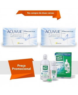 Acuvue Oasys com Hydraclear Plus com Opti Free
