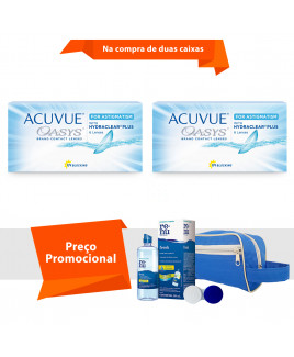 Acuvue Oasys para Astigmatismo com Hydraclear Plus com Kit  Renu Fresh