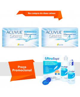 Acuvue Oasys para Astigmatismo com Hydraclear Plus e Ultrasept