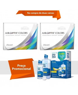 Air Optix Colors sem Grau com Renu Fresh