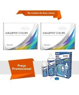 Air Optix Colors sem Grau com Bio Soak