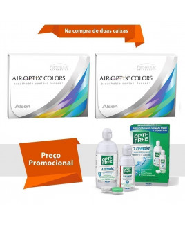 Air Optix Colors com Grau e Opti Free