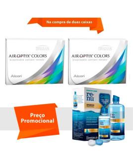 Air Optix Colors sem Grau com Renu Advanced