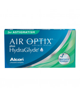 Air Optix Plus HydraGlayde para Astigmatismo