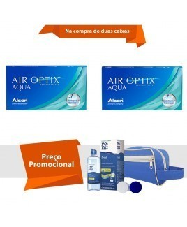 Air Optix Aqua com Kit  Renu Fresh