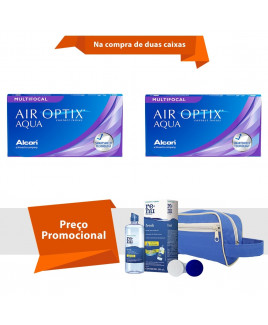 Air Optix Aqua Multifocal com Kit Renu Fresh