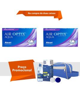 Air Optix Aqua Multifocal com Kit Renu Fresh