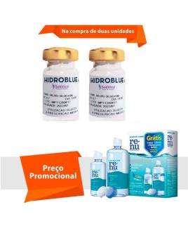 Hidroblue UV Tórica para Astigmatismo com Renu Sensitive