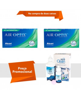 Air Optix para Astigmatismo com  Aqua Clean
