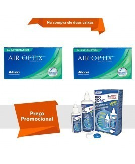 Air Optix para Astigmatismo com Bio Soak