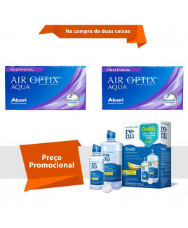 Air Optix Aqua Multifocal com Renu Fresh