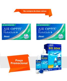 Air Optix Plus HydraGlyde para Astigmatismo com Bio Soak