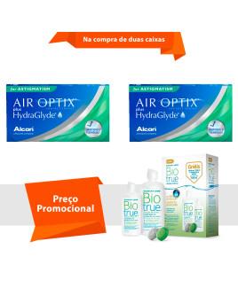 Air Optix Plus HydraGlayde para Astigmatismo com BioTrue